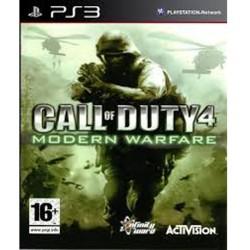 Call of Duty 4 Modern Warfare Jeu Ps3